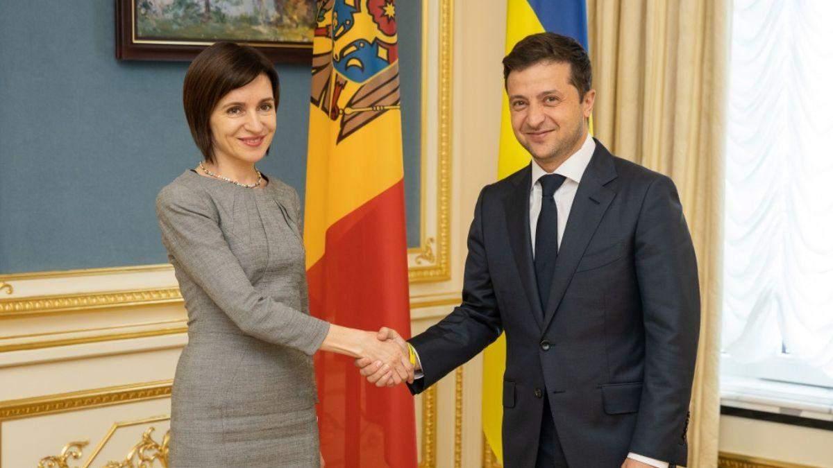 Зеленський привітав Санду з перемогою на парламентських виборах