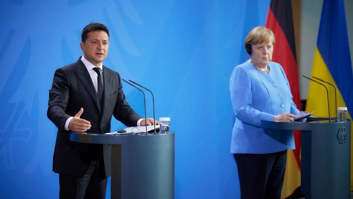 Північний потік-2, війна на Донбасі: розмова Зеленського й Меркель