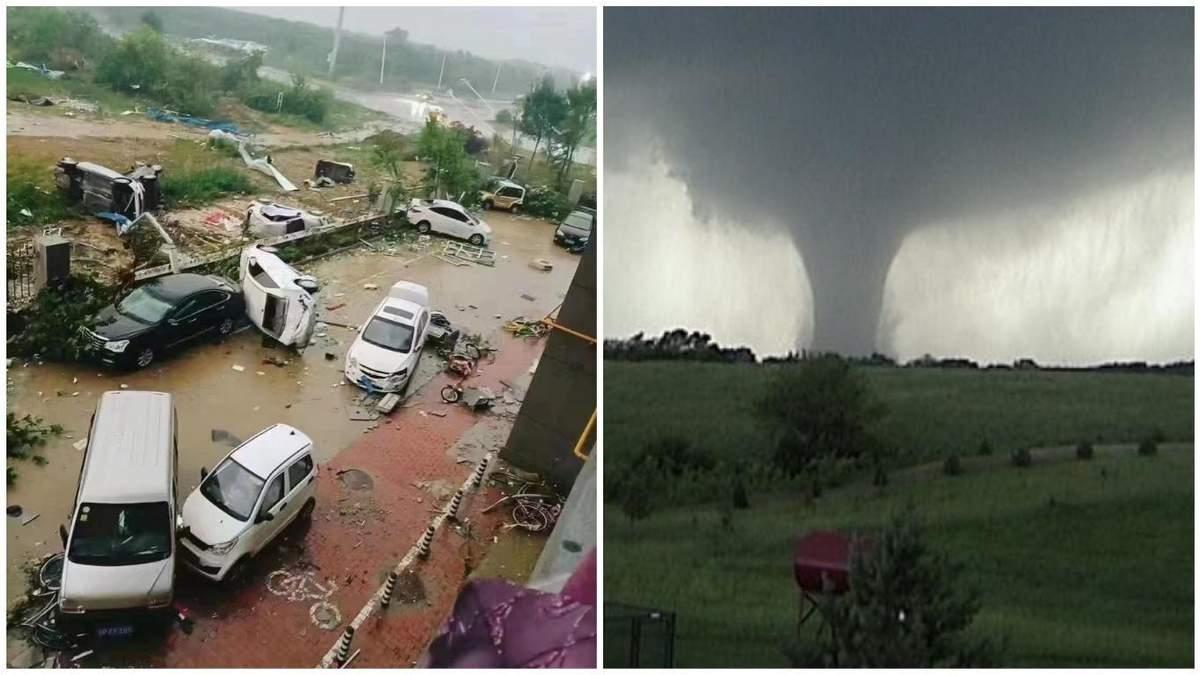 Торнадо у провінції Шаньдун у Китаї 12 липня: фото і відео