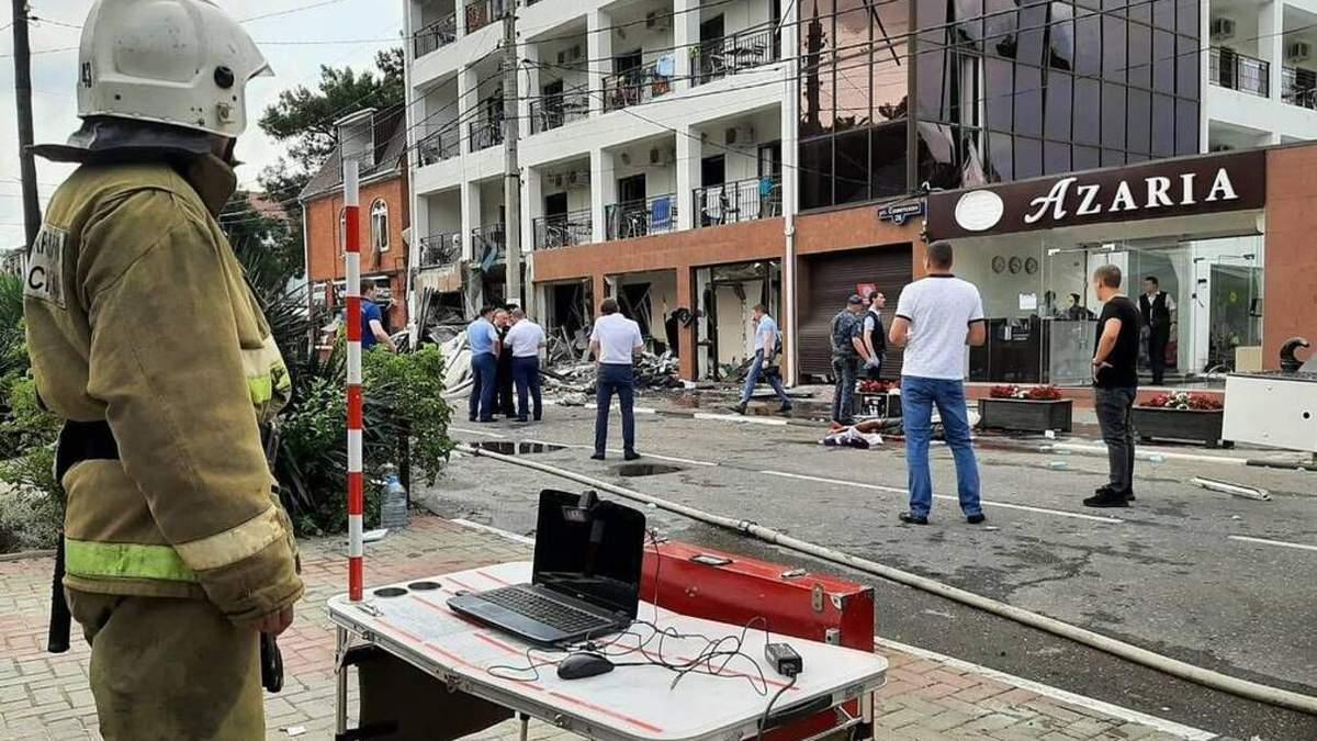 Вибух у готелі в Геленджику 13 липня: є жертви і постраждалі – відео