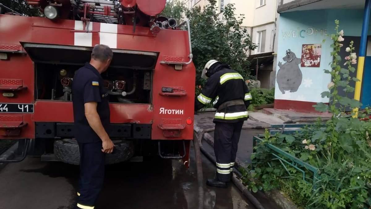 У Яготині на Київщині горіла 5-поверхівка 13 липня 2021