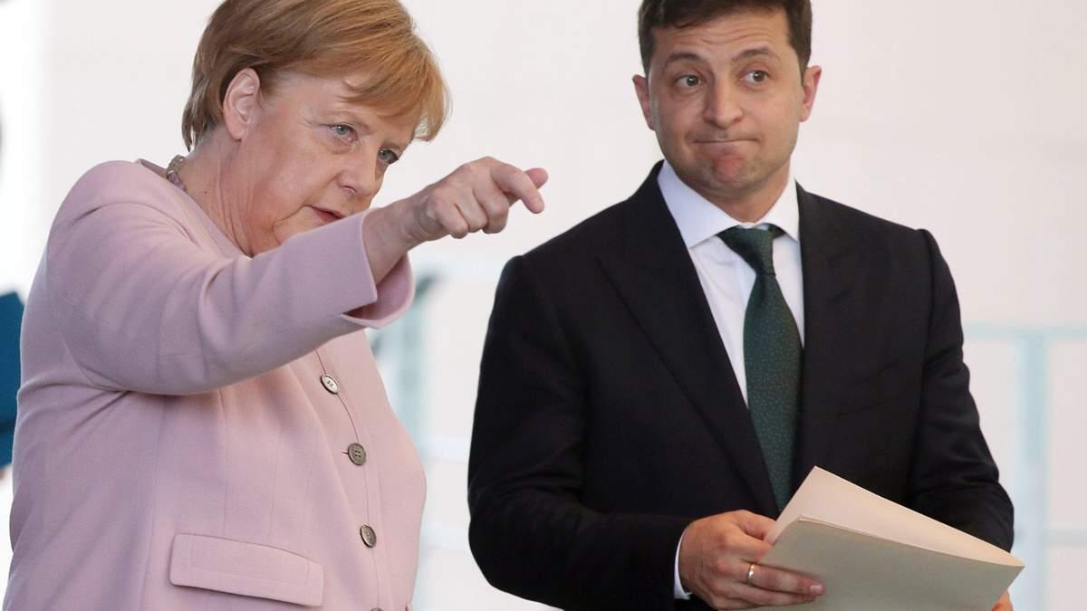 Зеленский встретился с Меркель: канцлер ФРГ поддержала сценарий Путина