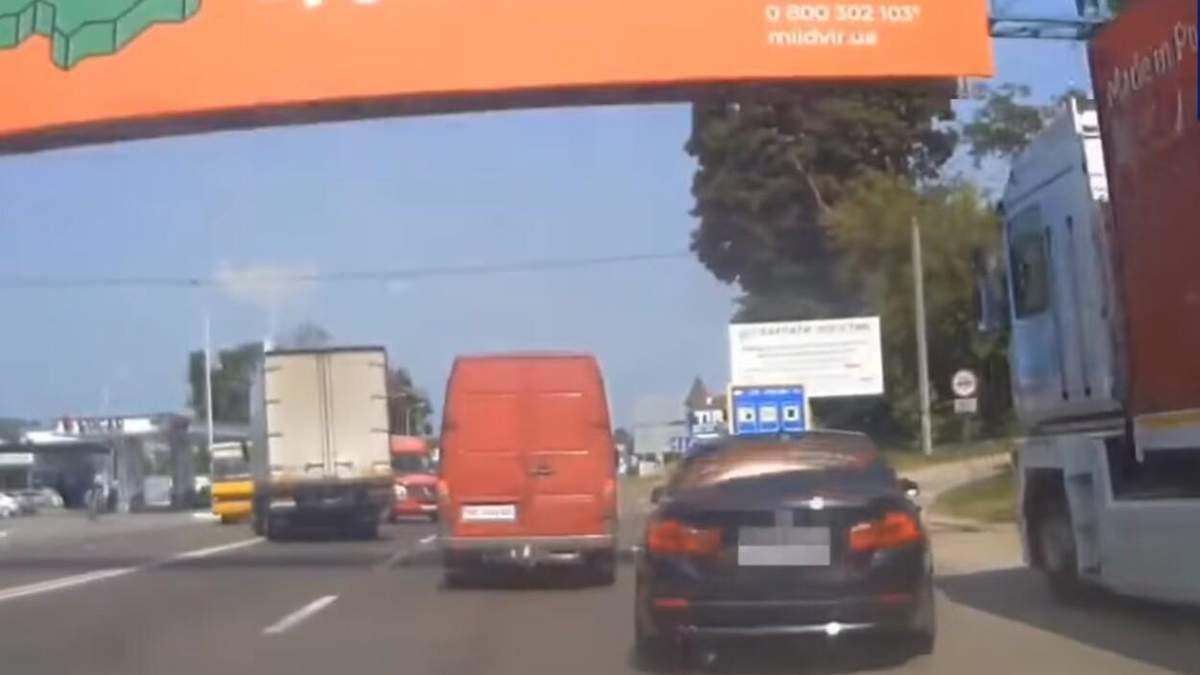 Львовянин под наркотиками устроил безумные гонки на трассе Киев - Чоп: видео