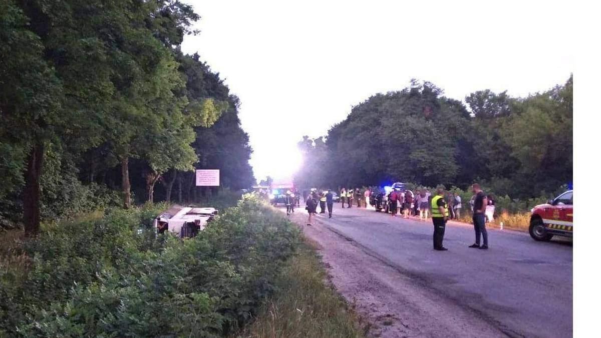 ДТП с автобусом Киев - Вроцлав на Ровенщине: причина аварии