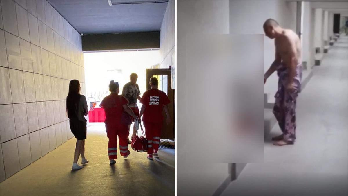 В Харькове мужчина разбил сожительнице голову: видео 18+
