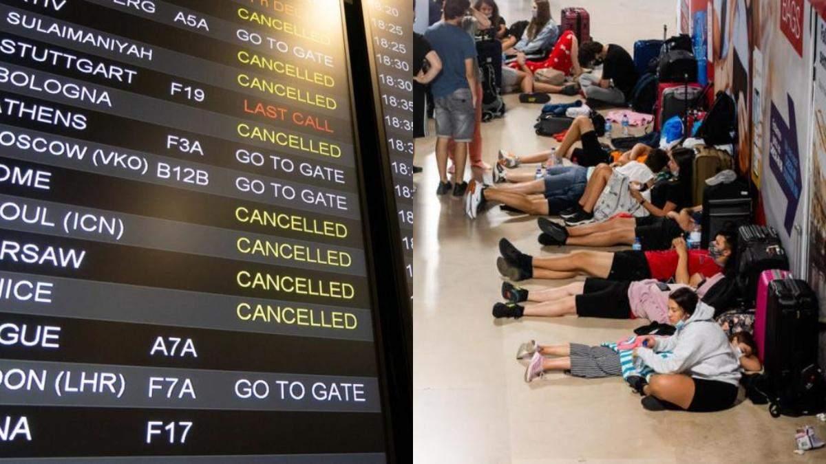 Аеропорт Лісабону 18.07.2021 паралізований через страйки