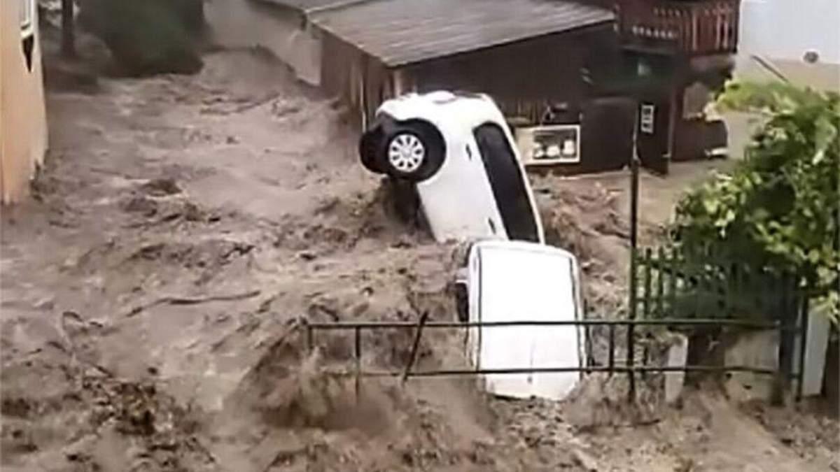 Наводнение 17 июля добралась уже до Австрии: видео