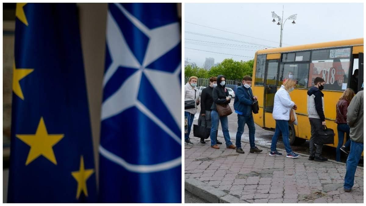 Як українці ставляться до вступу в НАТО і ЄС