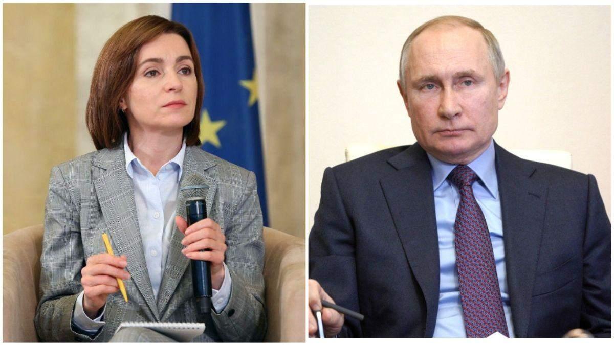 Санду хоче говорити з Путіним про виведення військ з Придністров'я