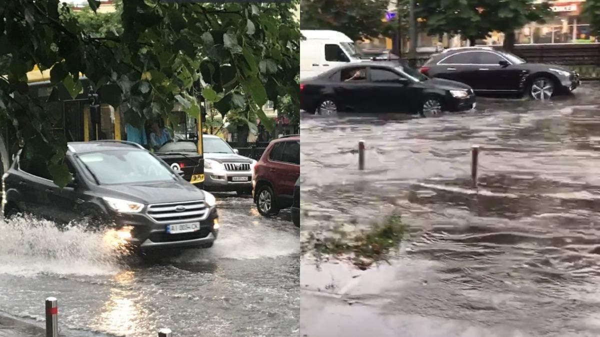 Непогода в Киеве: улицы столицы затопило