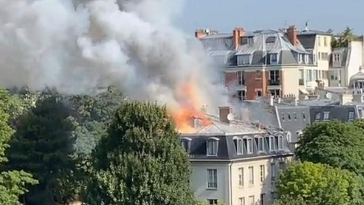 В центре Парижа 20.07.2021 пожар у резиденции премьера: видео
