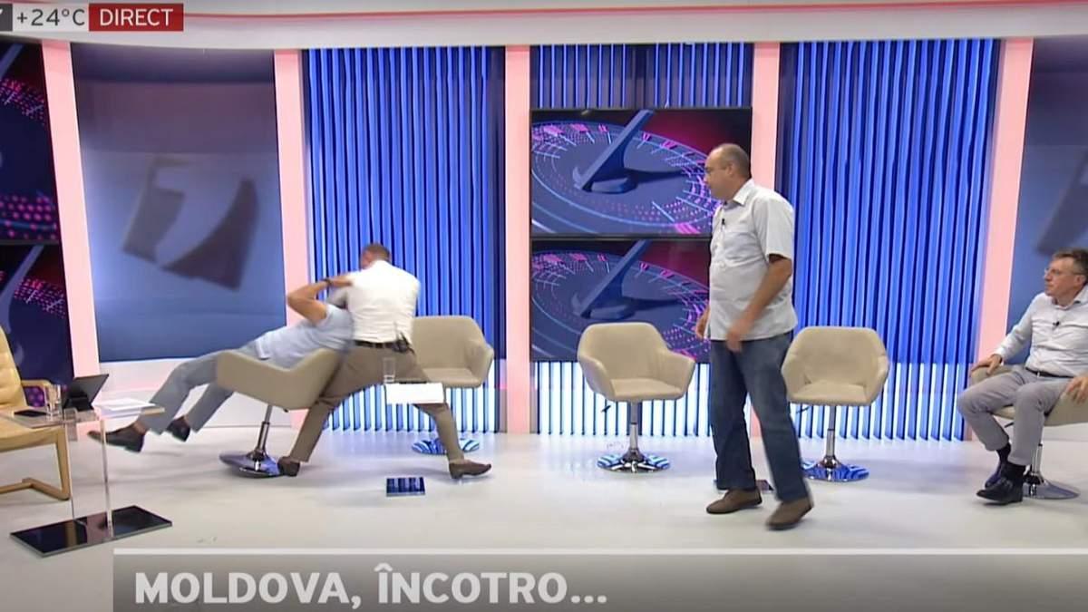 У Молдові політики жорстко побились в прямому ефірі: відео