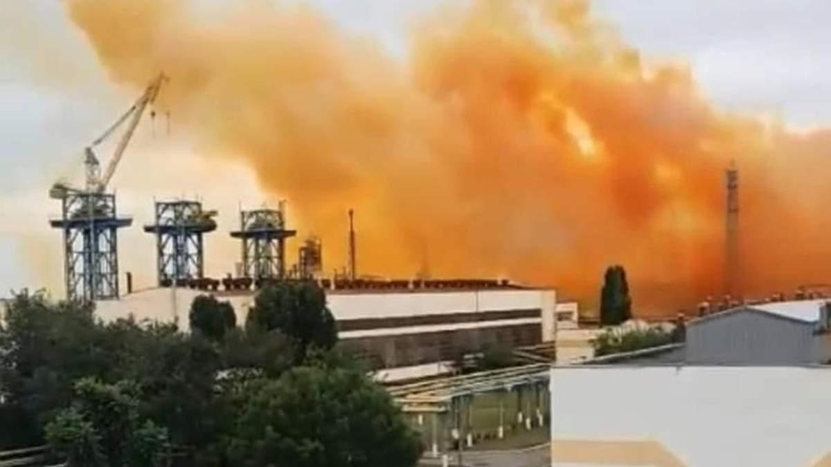 Взрыв на Ривнеазоте: синоптики советуют избегать дождя