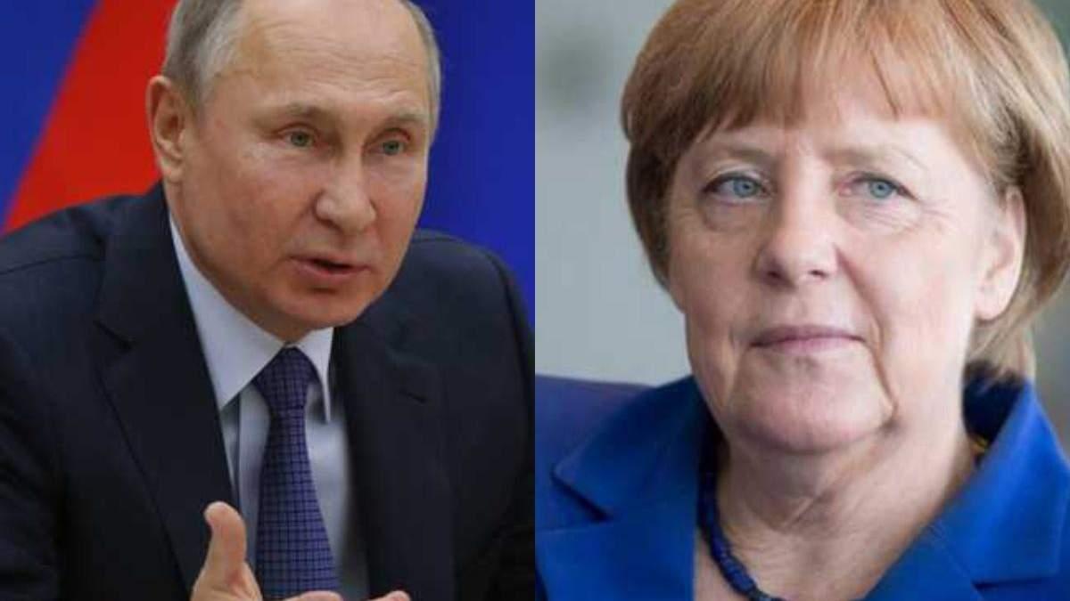 Після угоди щодо Північного потоку-2 Меркель подзвонила Путіну