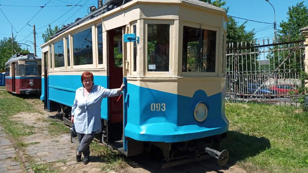 Водійка трамвая Лідія Філіпчук у Льовові