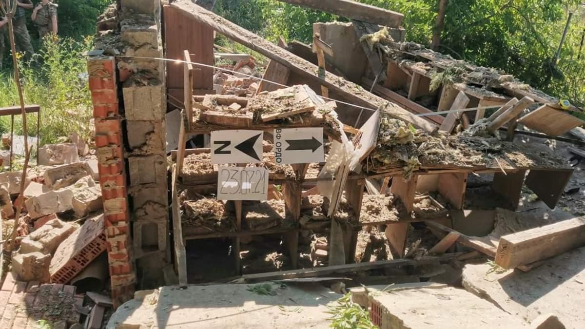 Окупанти 23.07.2021 обстріляли будинки мирних жителів біля Опитного