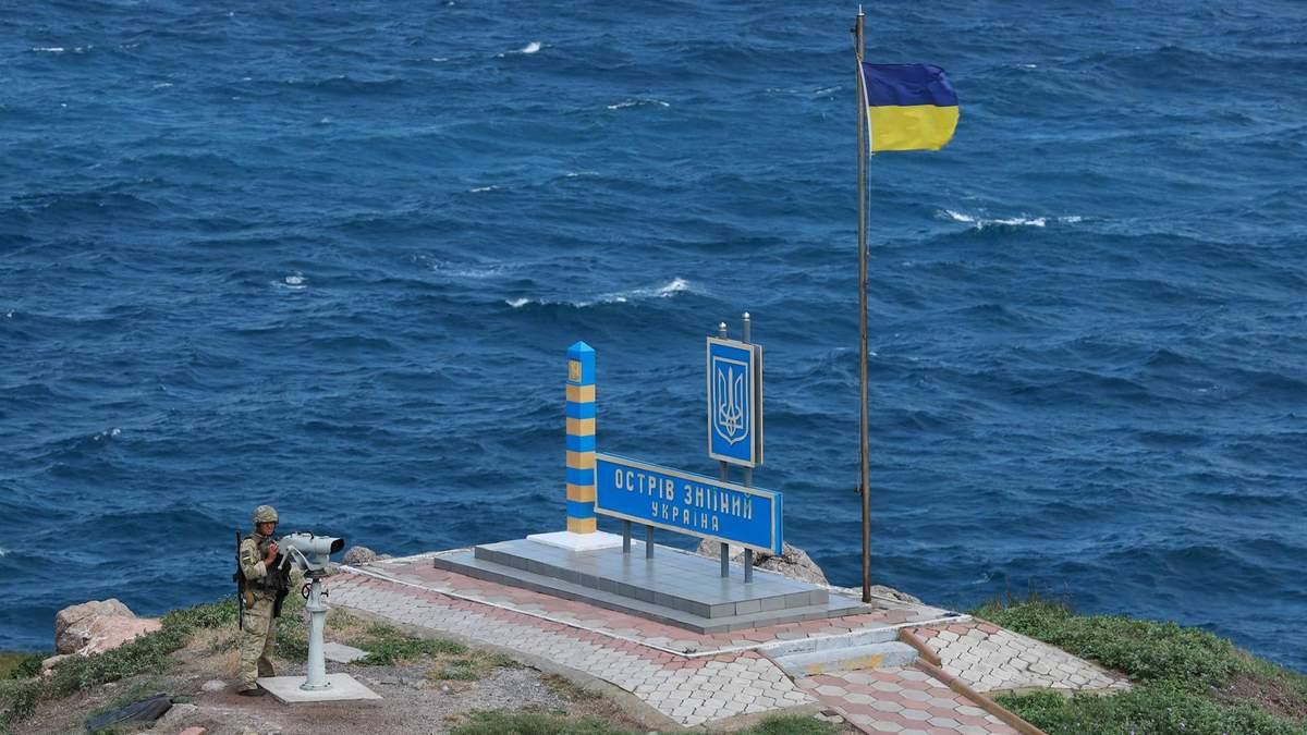 Военное командование Украины проверило остров Змеиный