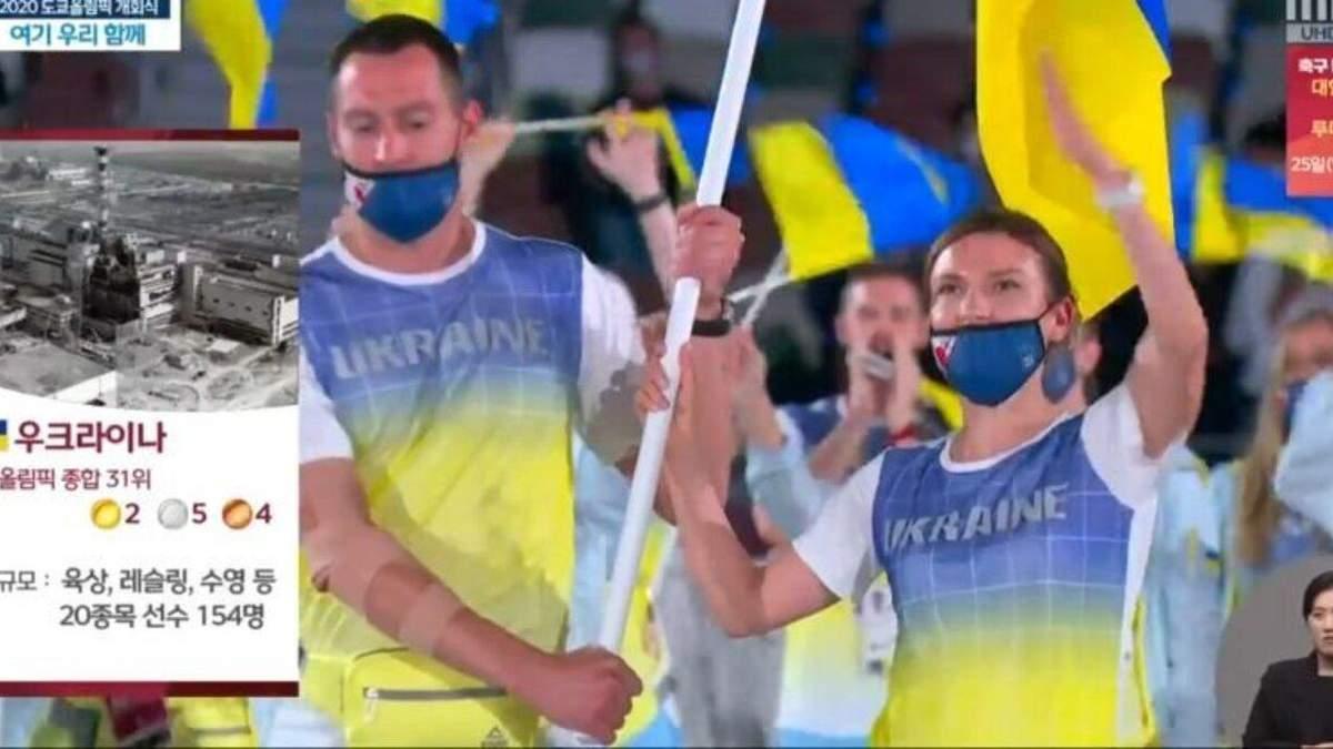Південнокорейський канал проілюстрував Україну Чорнобилем на Олімпіаді