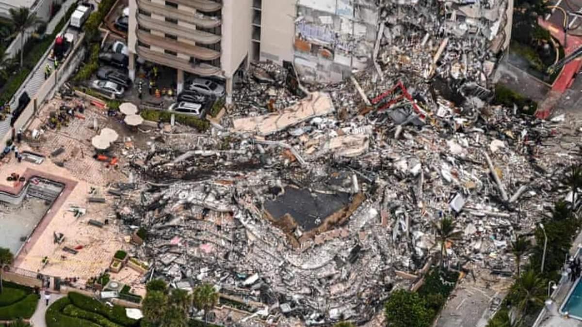 В Майами завершили спасательную операцию под завалами многоэтажки
