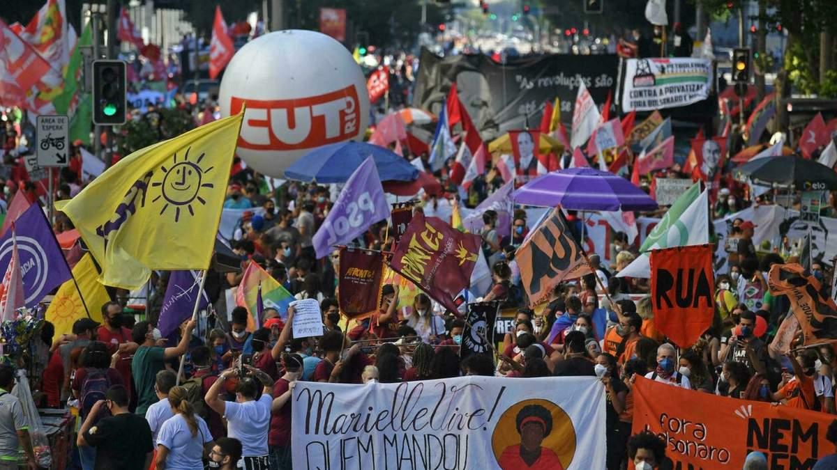 В Бразилии прошли протесты с требованием импичмента президента