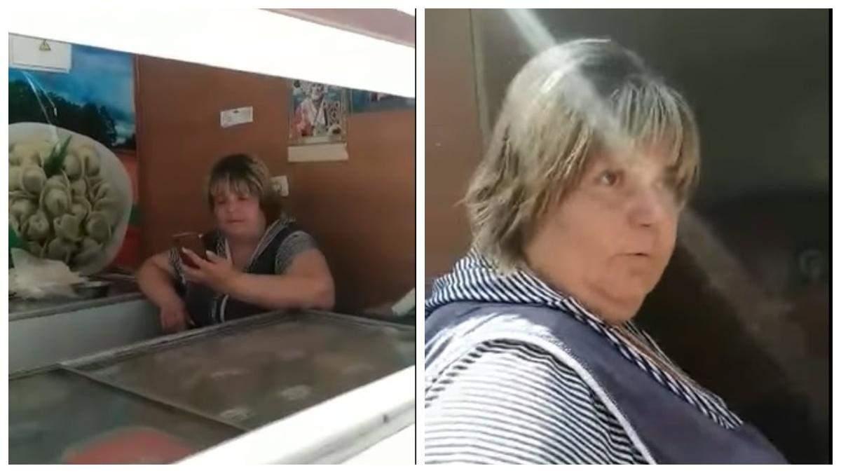 В Харькове продавец отказалась обслуживать на украинском: видео