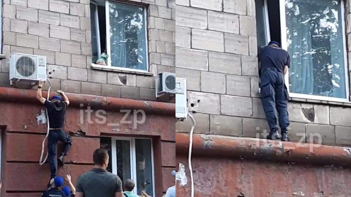 Прохожие нацгвардийци в Запорожье спасли маленькую девочку