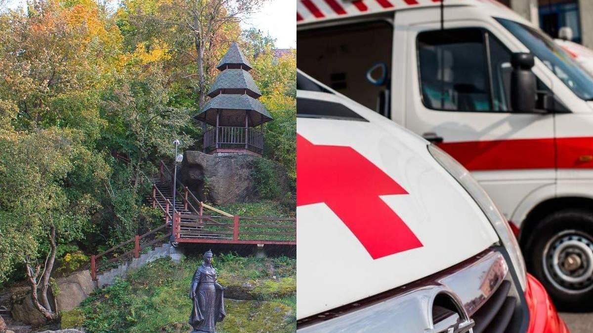 В Житомирской области подросток сорвался с высоты примерно 10 метров