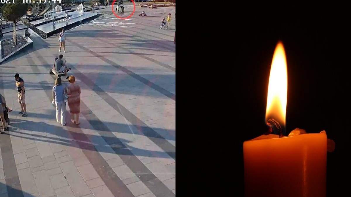 Помер малюк з Дніпра, який впав на фонтан: відео