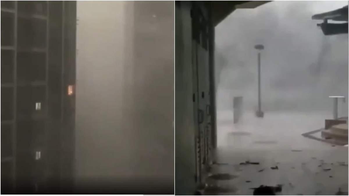 Тайфун Ин-Фа налетел на Шанхай - жуткое видео