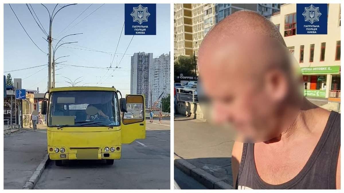 Патрульні Києва виявили 2 п'яних водіїв за кермом маршруток