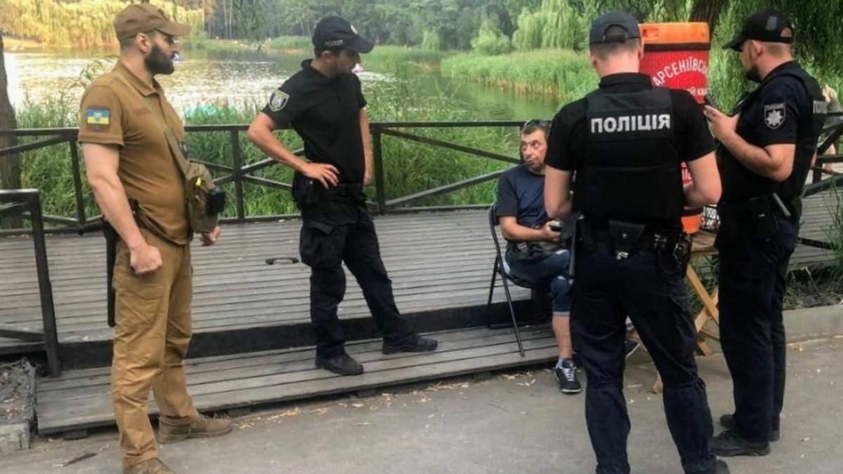 У київському парку спіймали наркомана, який продавав квас