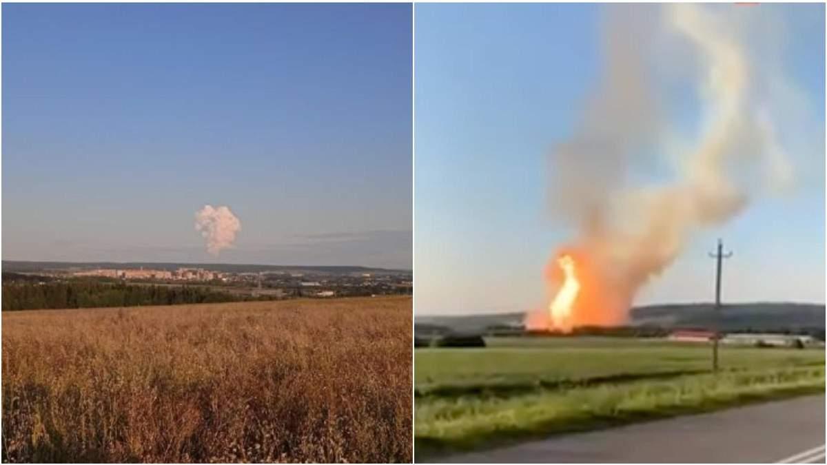 Вибух на газопроводі у Росії 26 липня 2021: відео