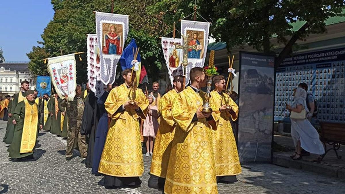 В Киеве Православная церковь Украины отметила годовщину крещения Руси