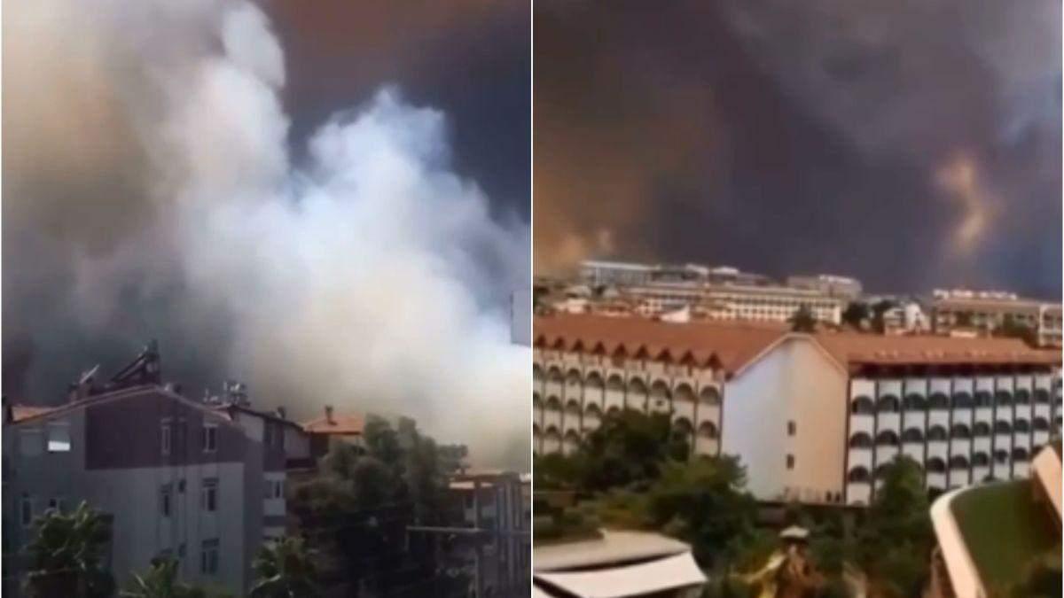 В Турции масштабные лесные пожары: огонь добрался до Анталии - фото