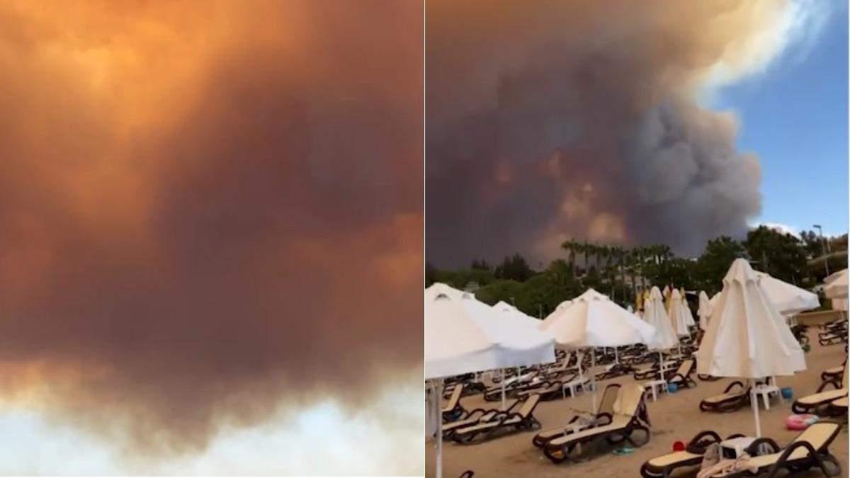 Пожар в Анталии июль 2021: очевидцы показали видео