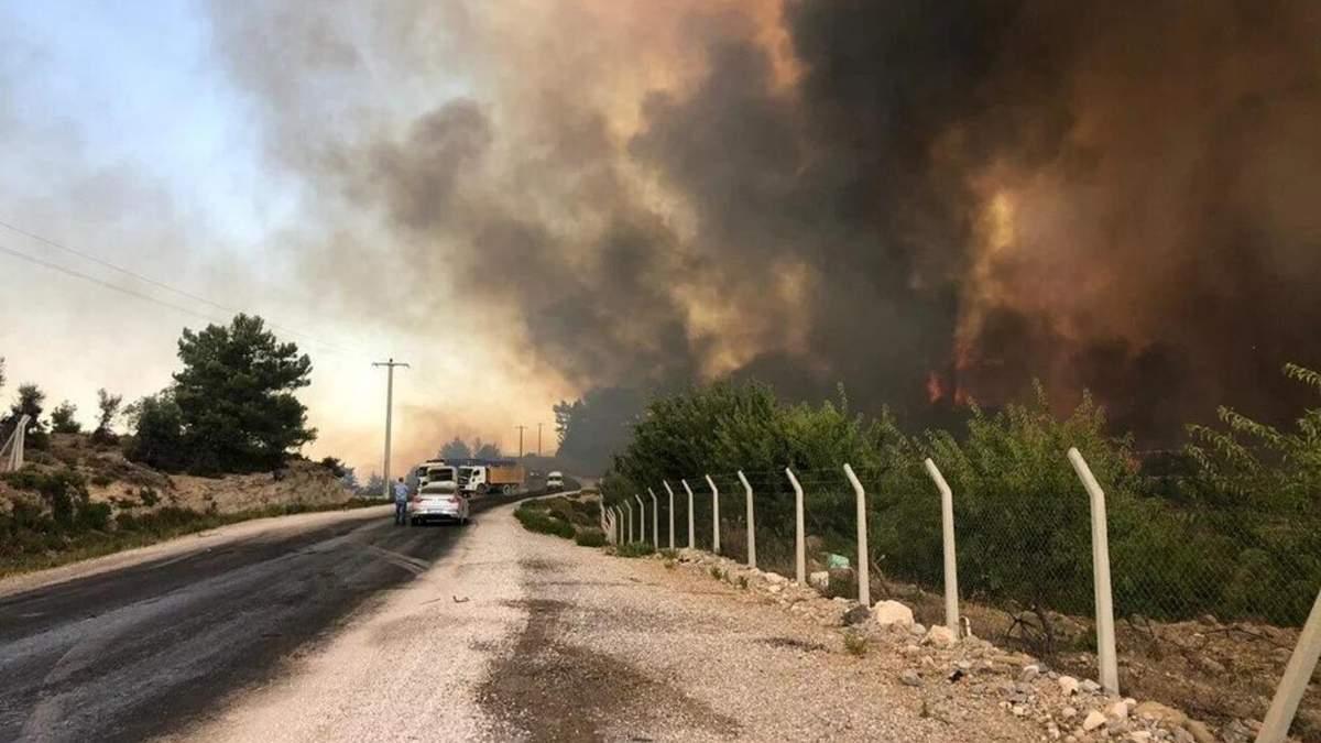 В Анталии уже более 50 пострадавших за масштабных пожаров