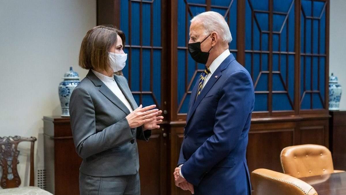 Тихановська зустрілася з Байденом у Вашингтоні