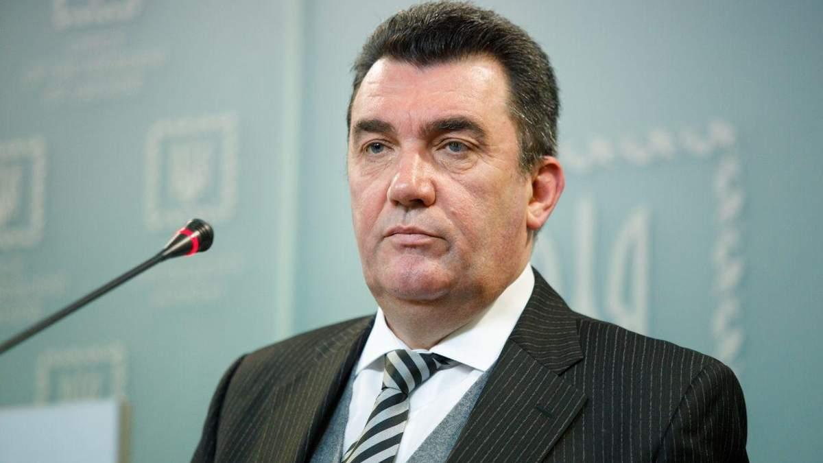 Данілов заявив, що засідання РНБО 30 липня відбудеться на Донбасі