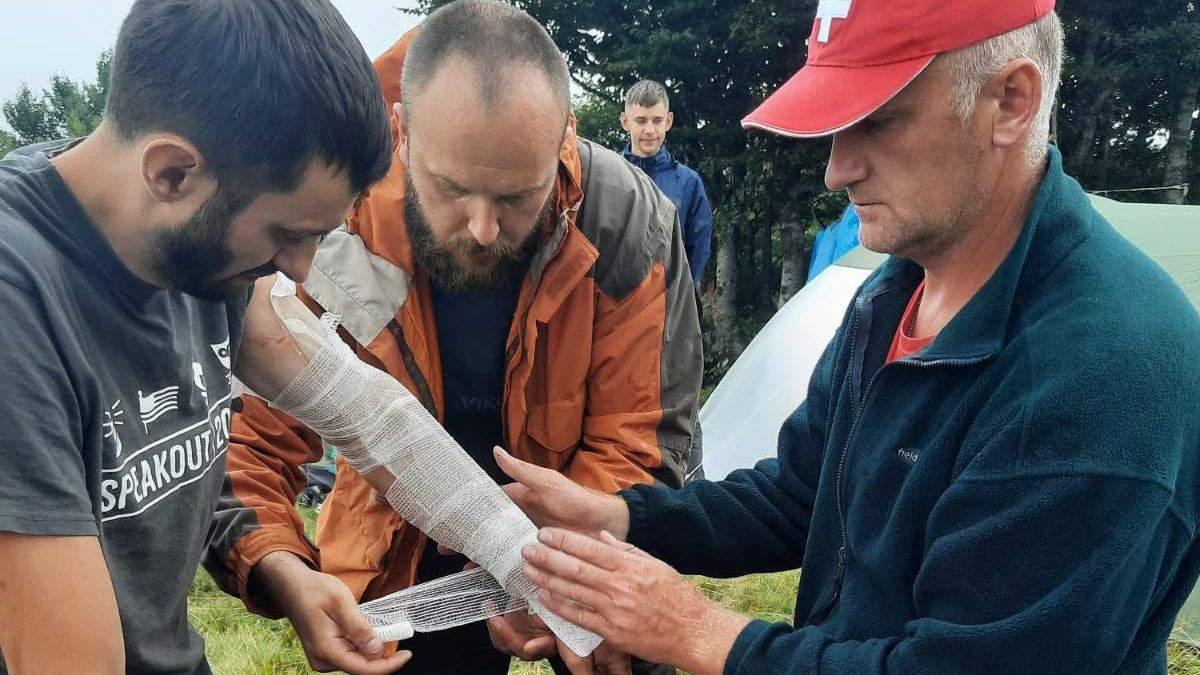 В Карпатах молния попала в группу туристов