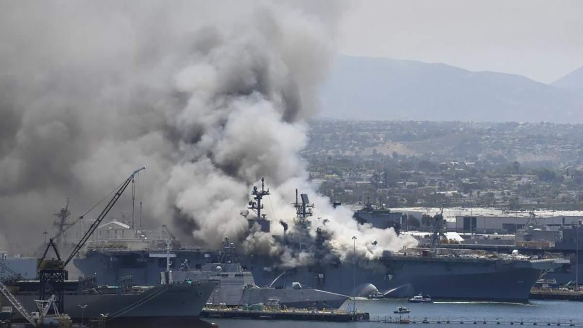 В США моряка обвинили в масштабном пожаре на корабле ВМС