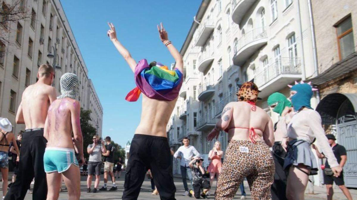 Як проходить рейв-вечірка представників ЛГБТ під ОП – яскраві фото