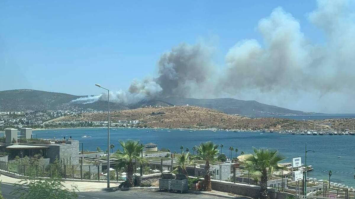 Локалізована пожежа у Бодрумі спалахнула знову: фото, відео