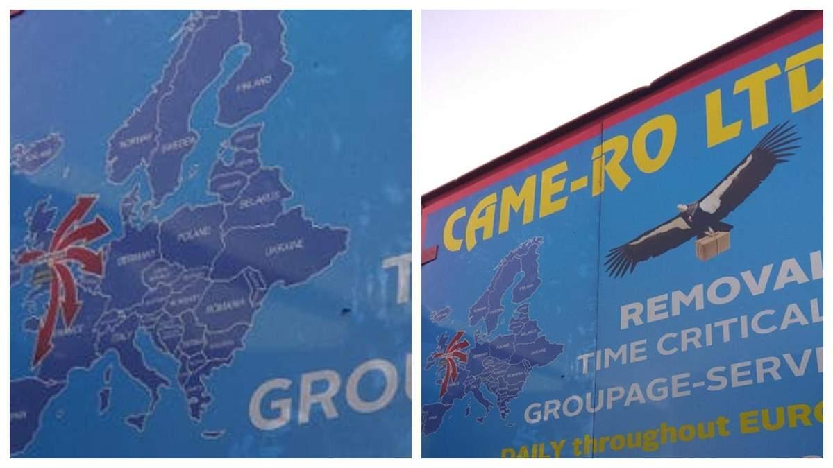 Британська компанія-перевізник використовує карту України без Криму