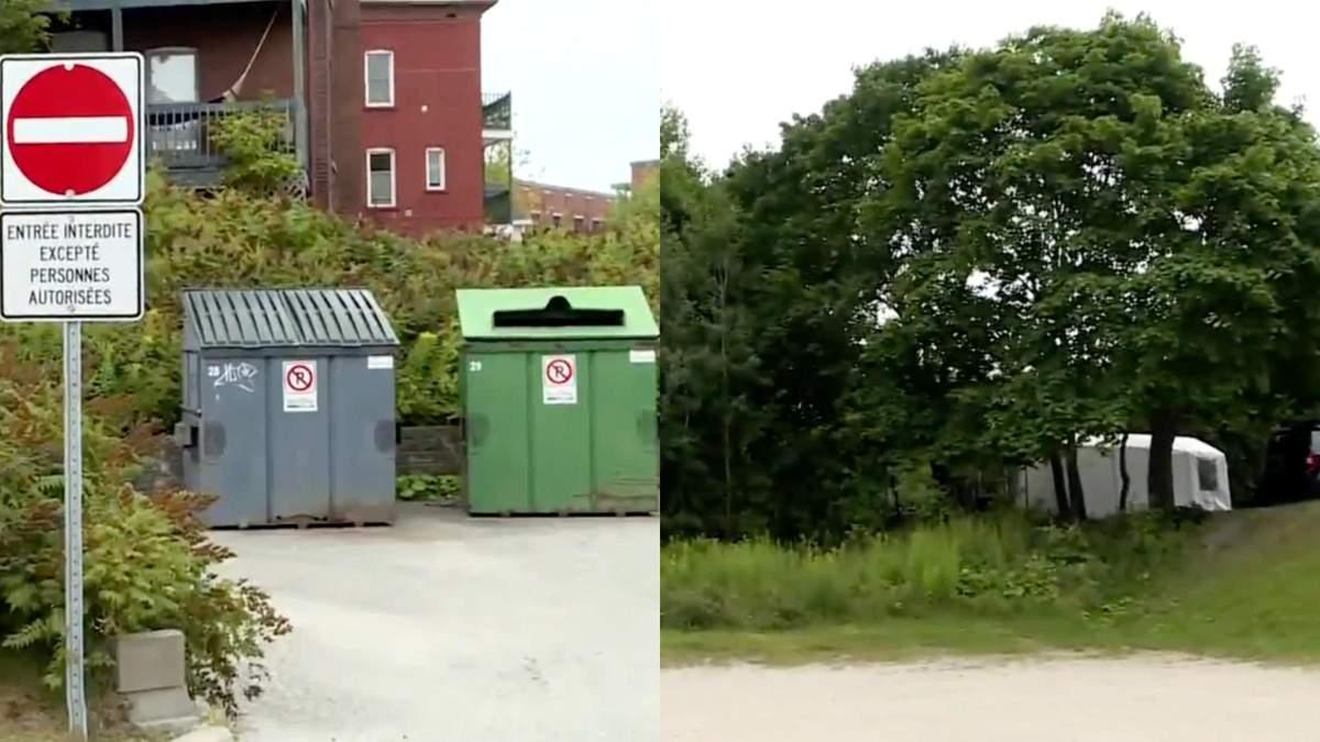 В Канаде пожарные выбросили в мусорник обгоревшее тело