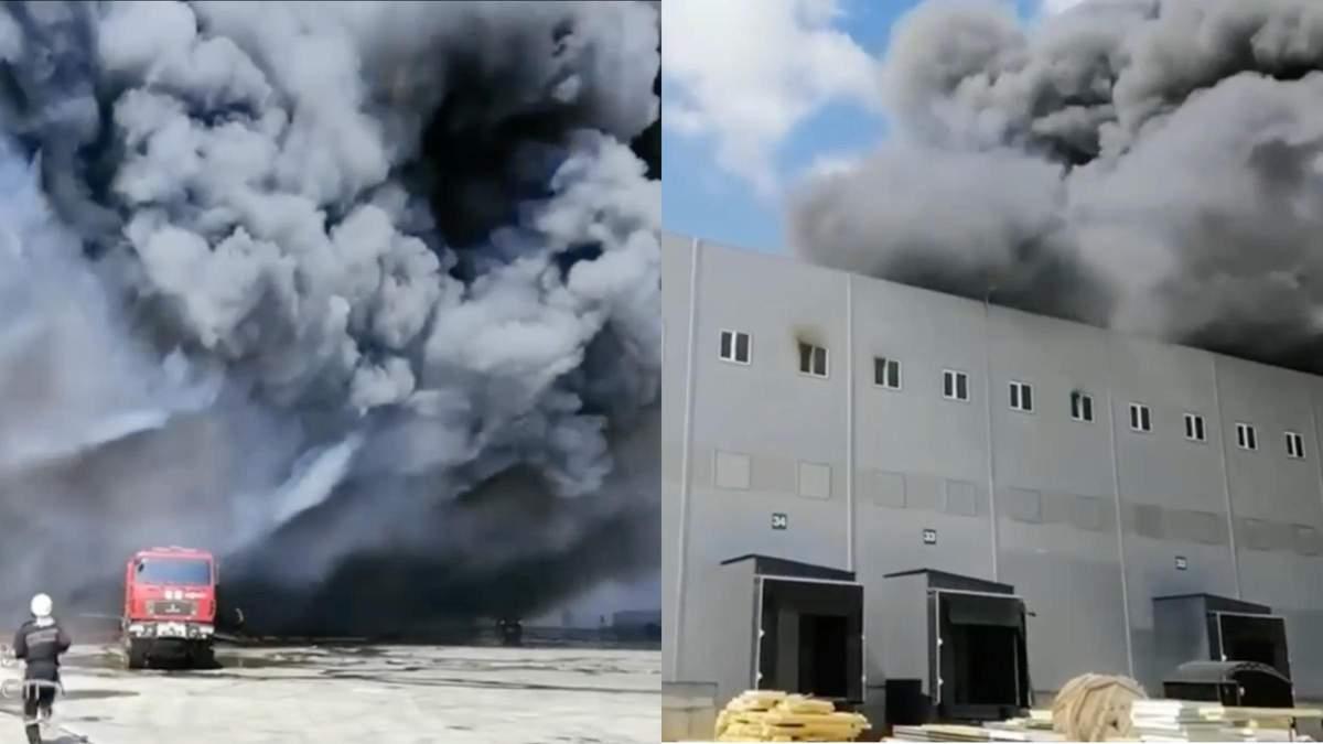 Горит 10 тысяч квадратных метров: под Одессой вспыхнул пожар на складе – видео