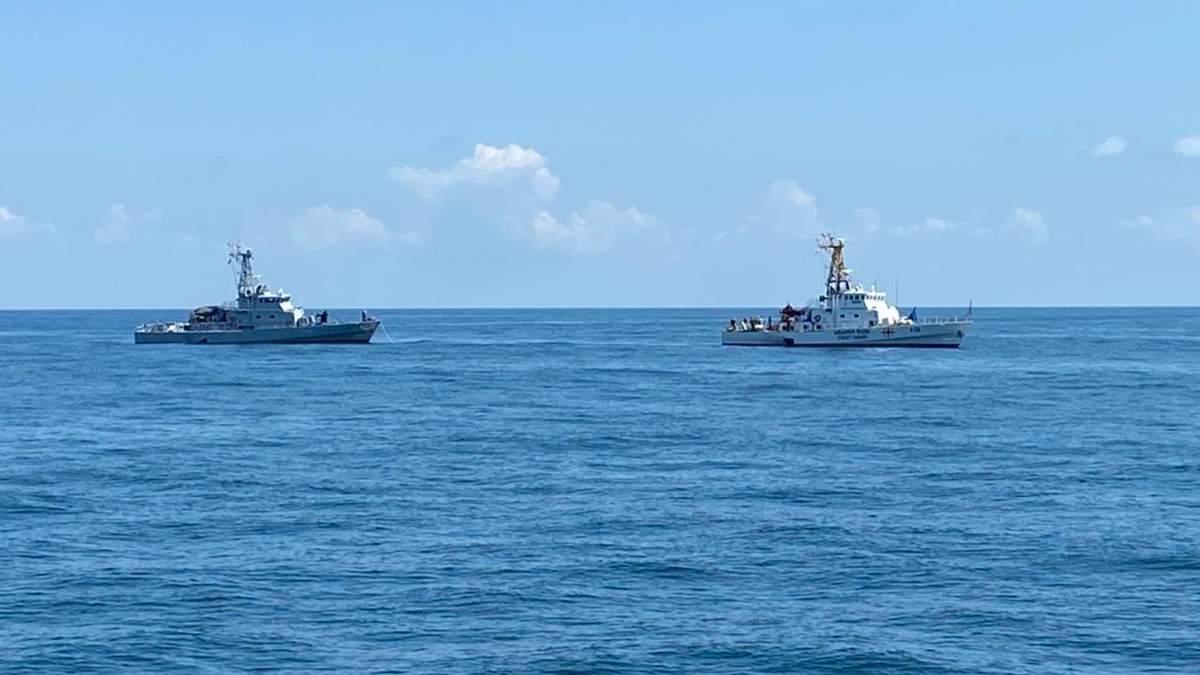Моряки из Украины и Грузии провели в Черном море совместные учения