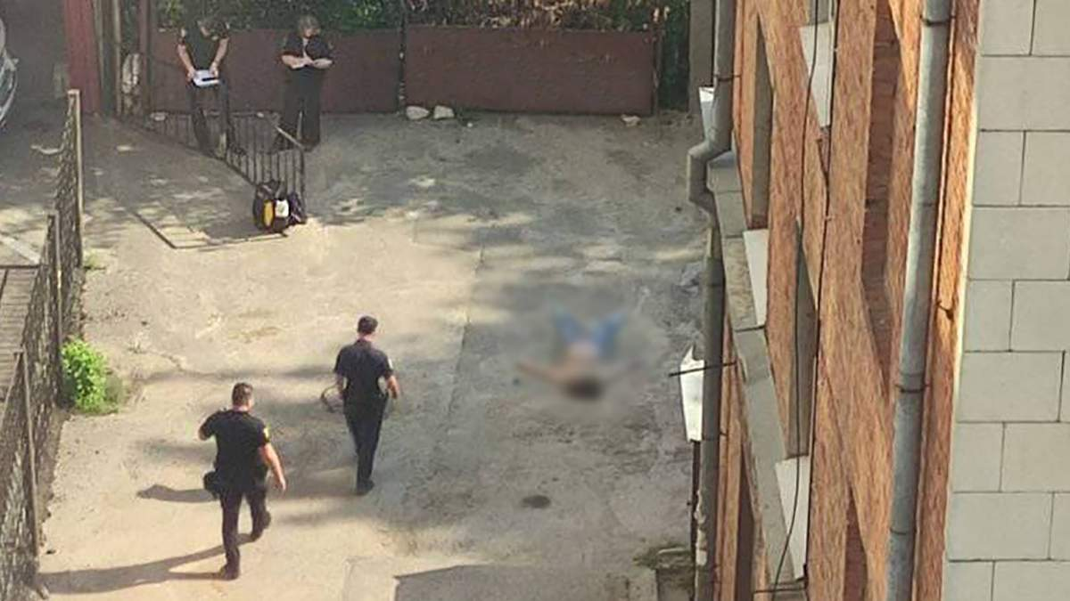 В Харькове женщина прыгнула с 7 этажа: видео последних минут