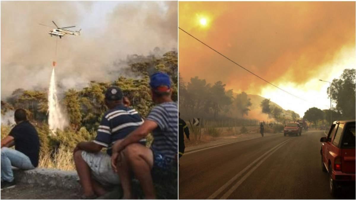 Турцию и Грецию охватили пожары, что объединили местных с туристами