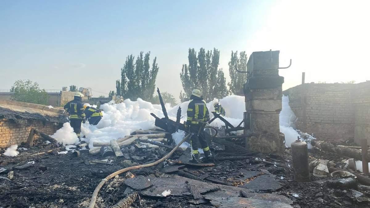 Пожар на Сержанта Медведева в Запорожье: фото последствий