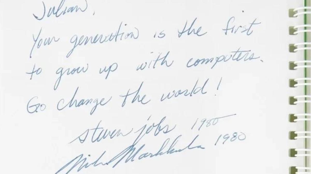 Підпис Стіва Джобса